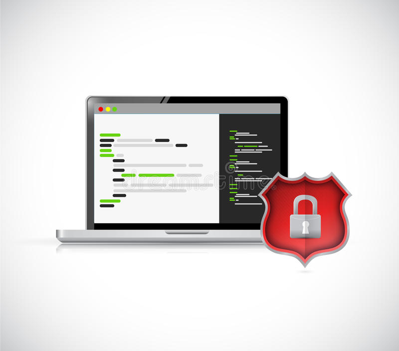 Illustrazione dell'icona di concetto di codifica di sicurezza royalty illustrazione gratis