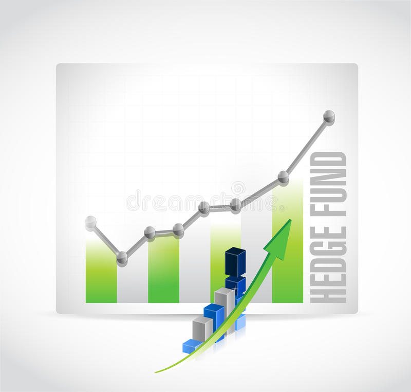 illustrazione dell'icona di risultati di affari del hedge fund illustrazione vettoriale