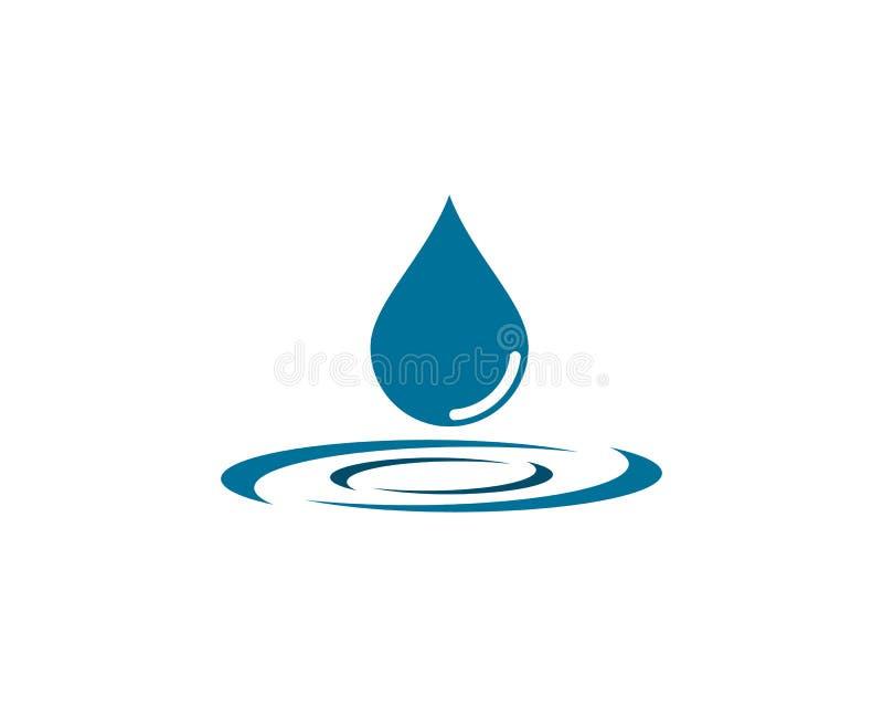 Illustrazione dell'icona di vettore del modello di logo della goccia di acqua royalty illustrazione gratis