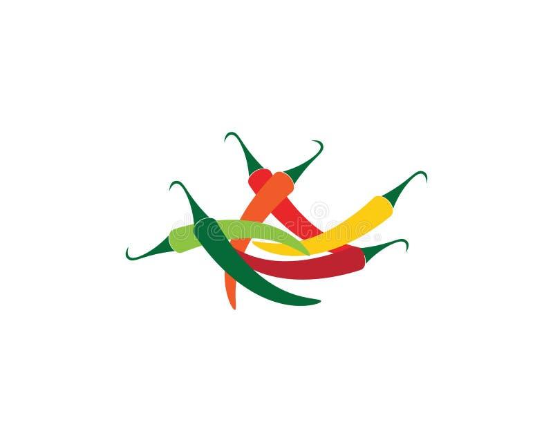 Illustrazione dell'icona di vettore del peperoncino rosso caldo illustrazione di stock