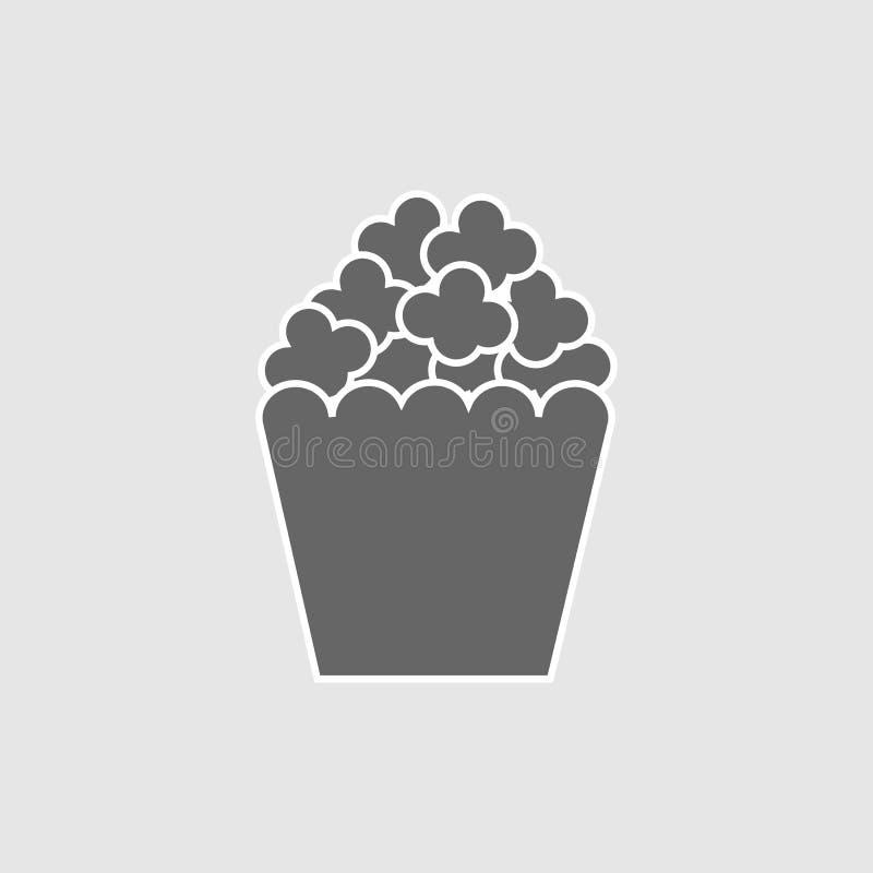 Illustrazione dell'icona di vettore dello spuntino del popcorn royalty illustrazione gratis