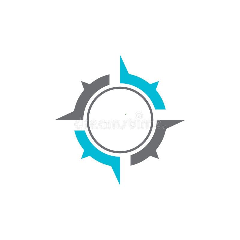 Illustrazione dell'icona di vettore di Logo Template della bussola royalty illustrazione gratis