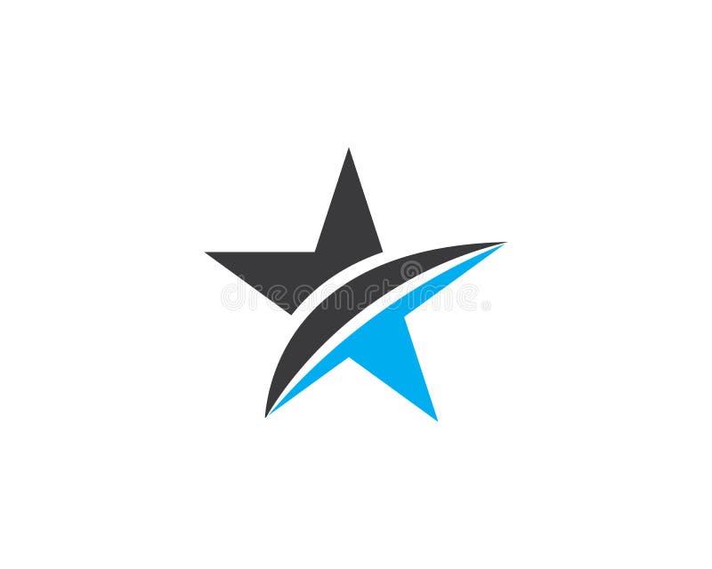 Illustrazione dell'icona di vettore di Logo Template della stella illustrazione di stock