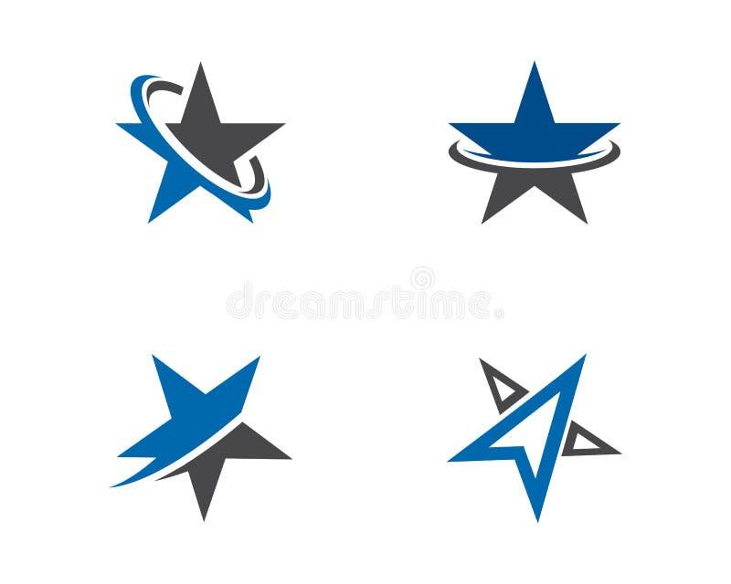 Illustrazione dell'icona di vettore di Logo Template della stella illustrazione vettoriale
