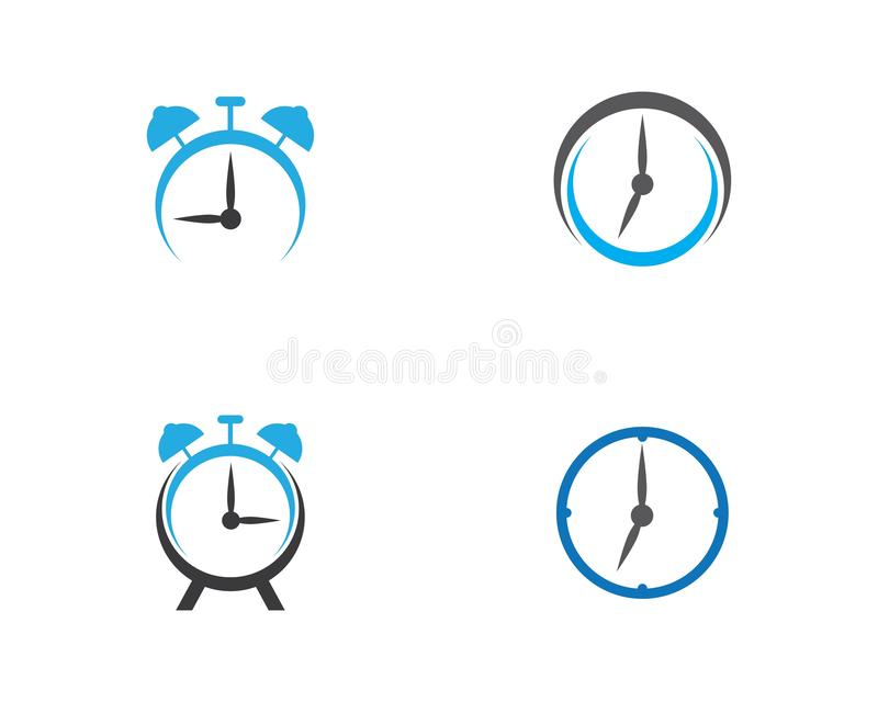 Illustrazione dell'icona di vettore dell'orologio illustrazione di stock