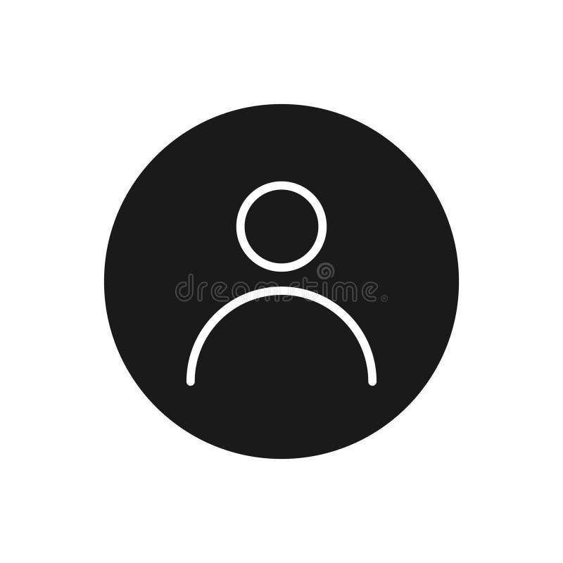 Illustrazione dell'icona di vettore dell'utente per progettazione grafica, logo, sito Web, media sociali, app mobile, ui illustrazione vettoriale