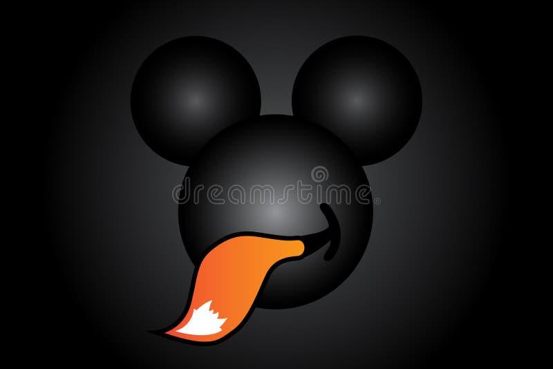 Illustrazione dell'idea che illustra Fox di cibo del topo illustrazione vettoriale