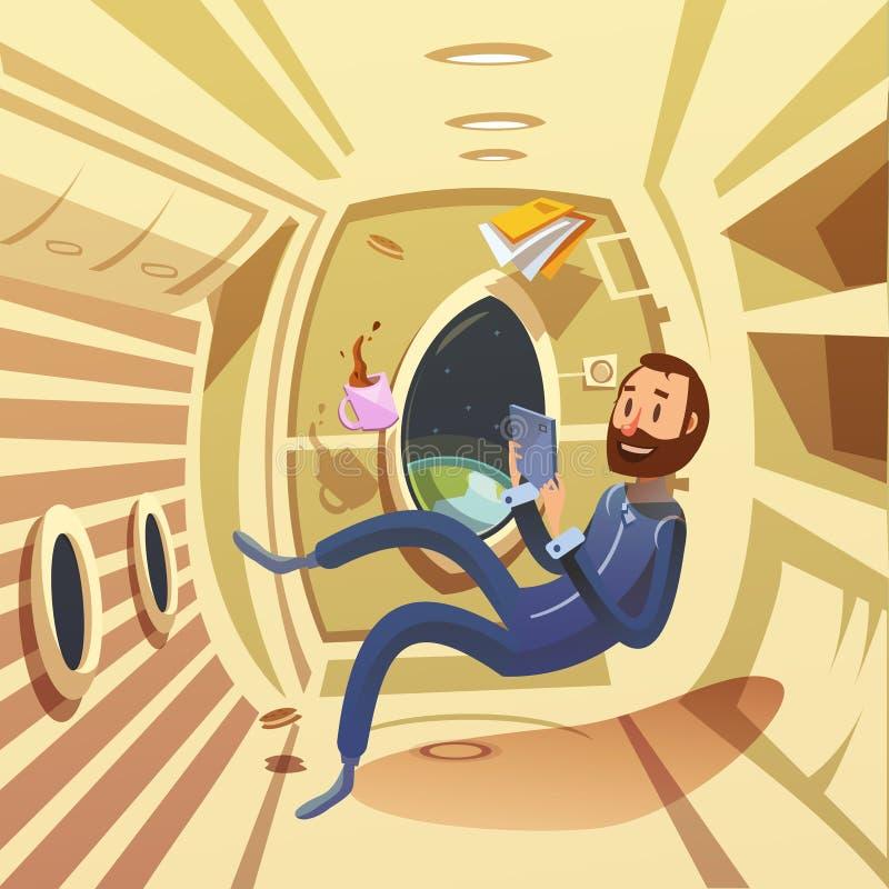 Illustrazione dell'interno dell'astronave illustrazione vettoriale