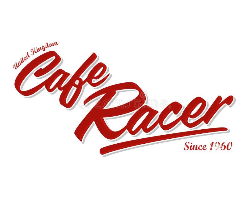 Illustrazione dell'iscrizione di vettore del corridore del caffè royalty illustrazione gratis