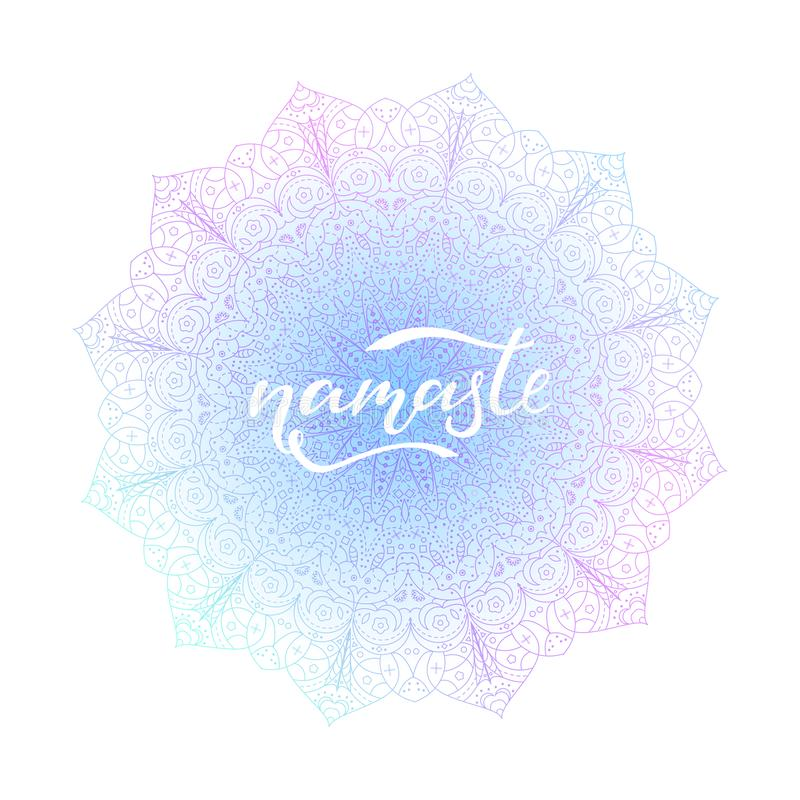 Illustrazione dell'iscrizione di vettore di Namaste illustrazione di stock