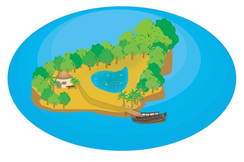 Download Illustrazione dell'isola illustrazione di stock. Illustrazione di illustrazione - 7314546