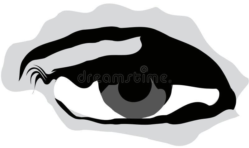 Illustrazione dell'occhio illustrazione di stock