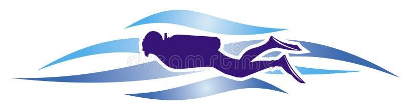 Illustrazione dell'operatore subacqueo royalty illustrazione gratis