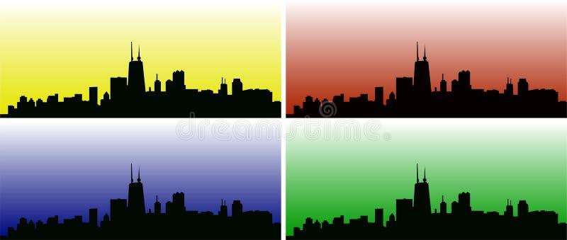 Illustrazione dell'orizzonte della città immagine stock libera da diritti
