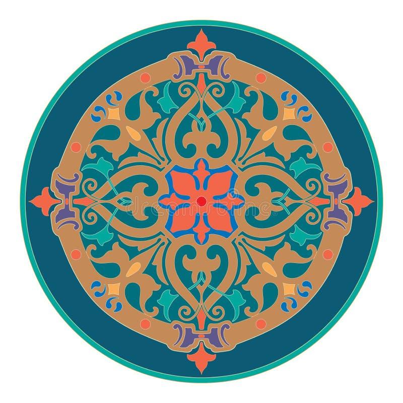 Illustrazione dell'ornamento dell'estratto della decorazione della mandala illustrazione vettoriale