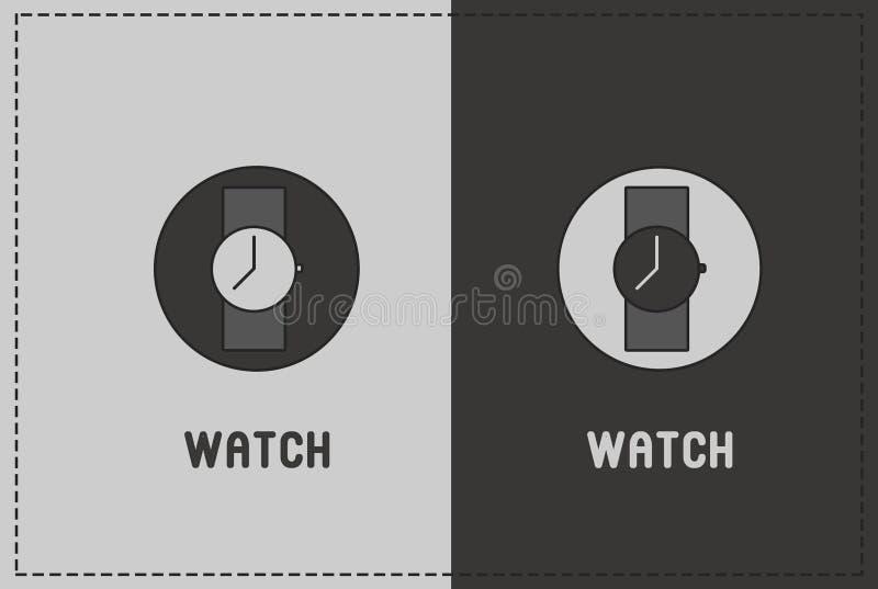 Illustrazione dell'orologio fotografia stock