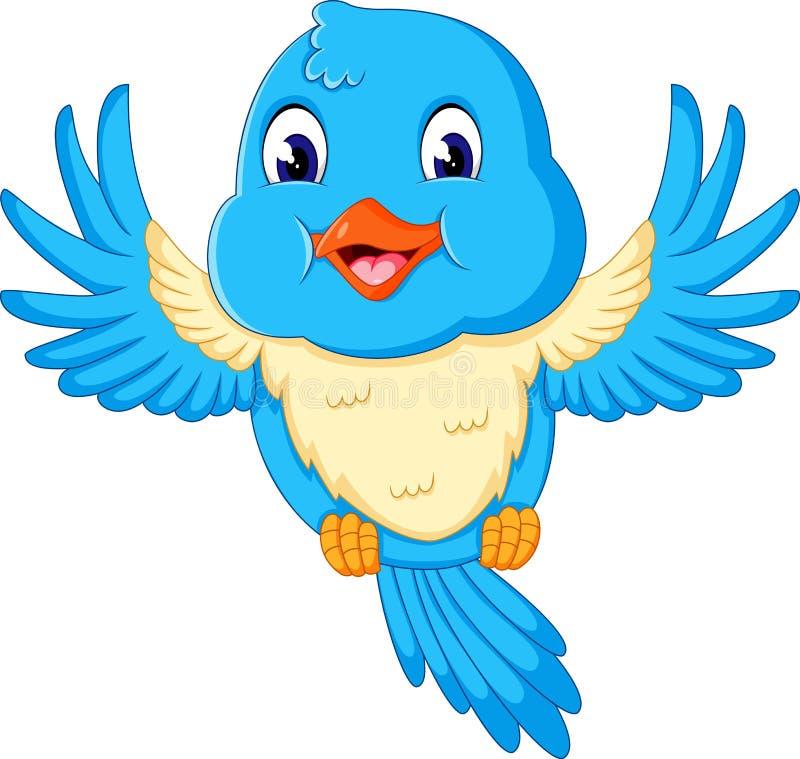 Illustrazione dell'uccello di volo felice illustrazione vettoriale