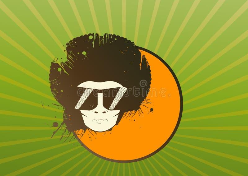 Illustrazione dell'uomo con il afro illustrazione di stock