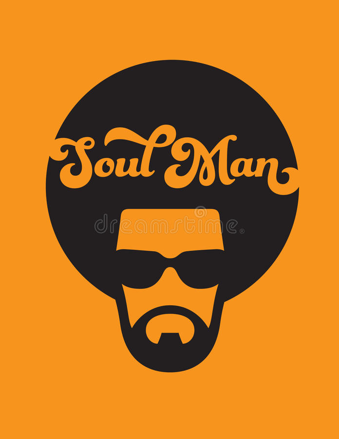 Illustrazione dell'uomo di anima retro illustrazione di stock