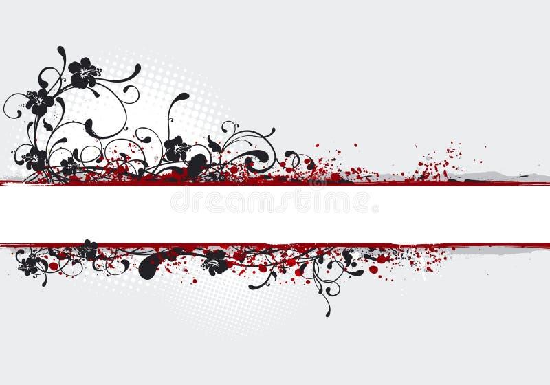 Illustrazione della bandiera, backgroun illustrazione di stock