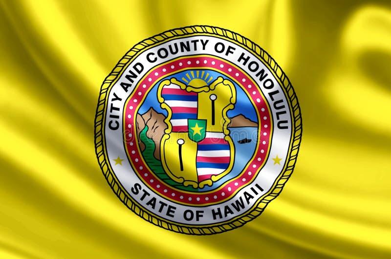 Illustrazione della bandiera di Honolulu Hawai royalty illustrazione gratis
