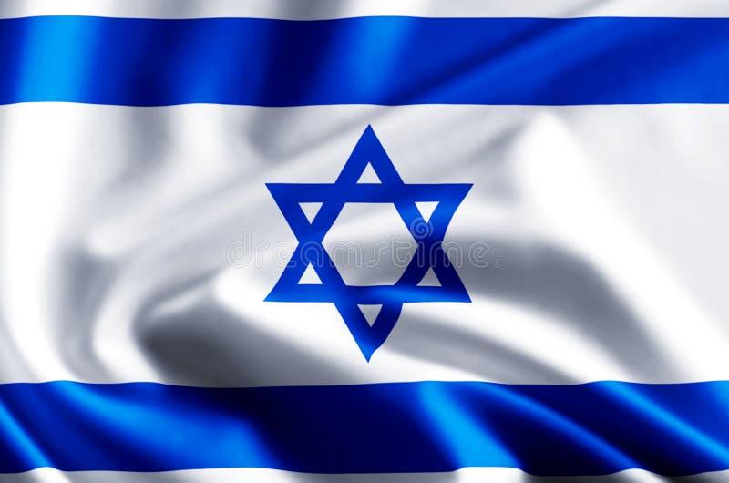 Illustrazione della bandiera di Israele illustrazione vettoriale