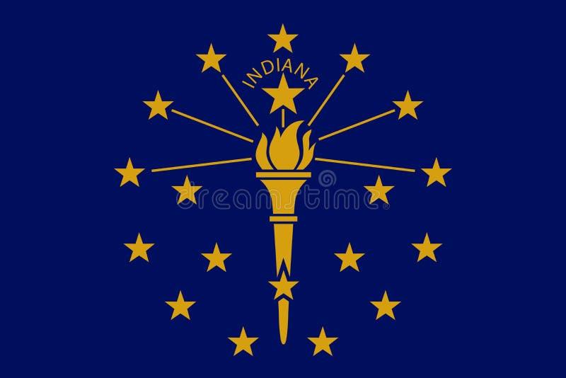 Illustrazione della bandiera di vettore dello stato dell'Indiana, strade trasversali dell'America royalty illustrazione gratis