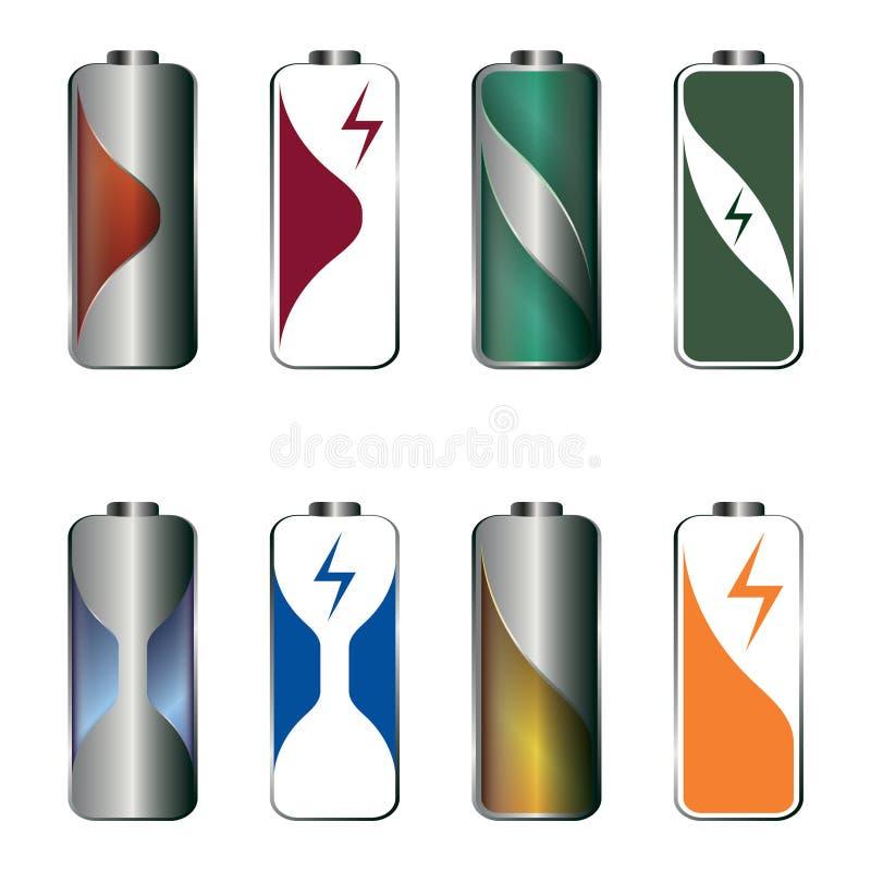 Illustrazione della batteria immagini stock