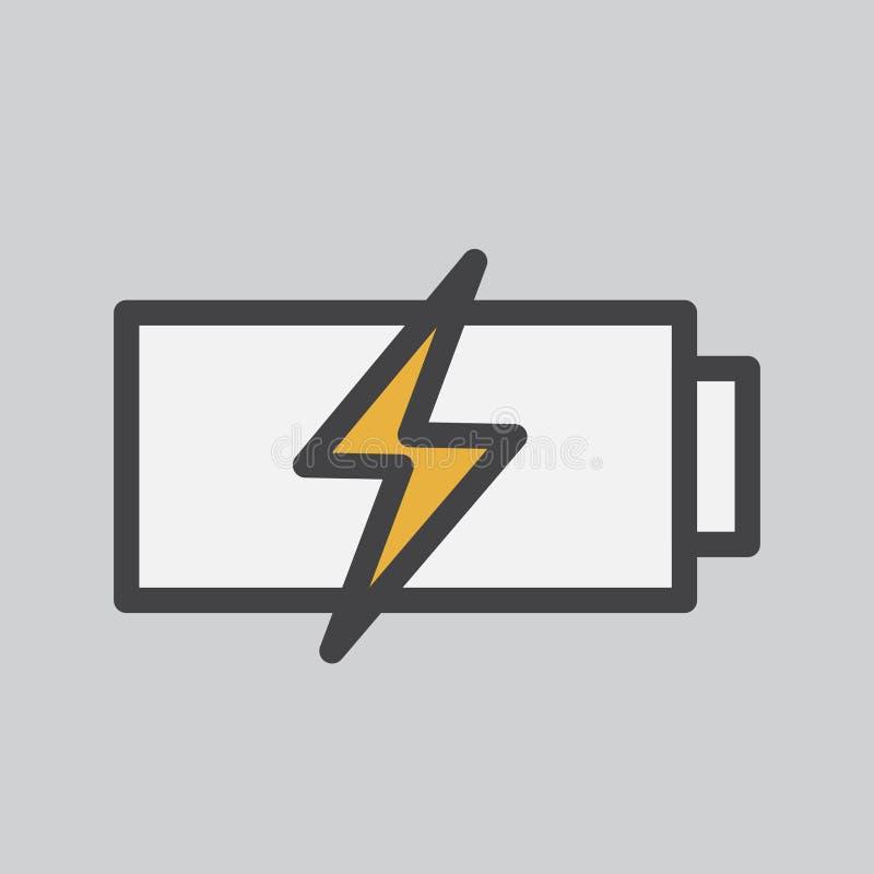 Illustrazione della batteria che ottiene caricata illustrazione di stock