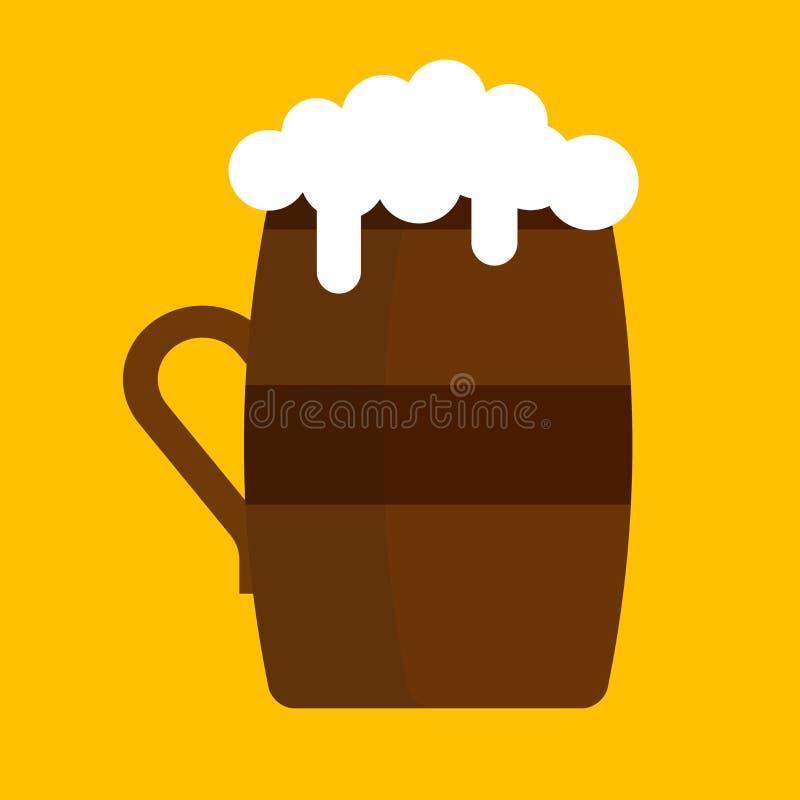 Illustrazione della bevanda dell'alcool dell'icona di vettore della tazza di birra Pinta del pub della lager della bevanda di Ant royalty illustrazione gratis