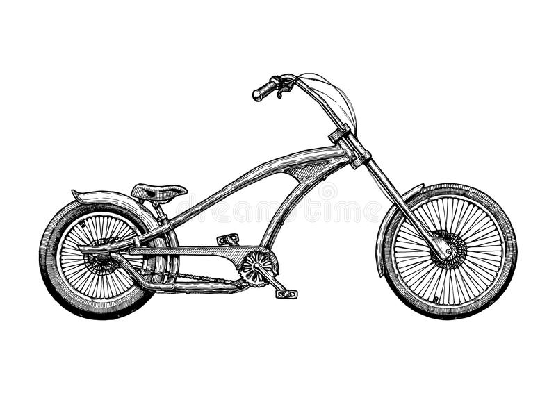 Illustrazione della bicicletta del selettore rotante royalty illustrazione gratis