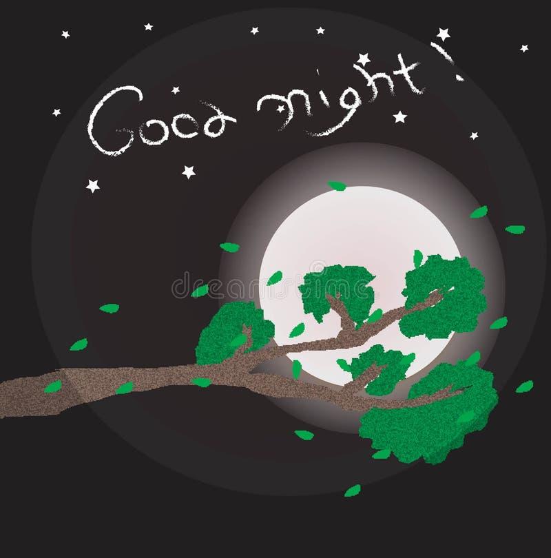 Illustrazione della buona notte fotografia stock libera da diritti