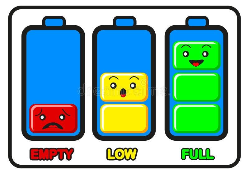 Illustrazione della carica della batteria illustrazione di stock