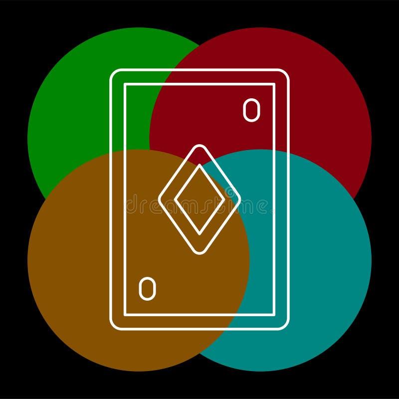Illustrazione della carta da gioco - simbolo del casin? royalty illustrazione gratis