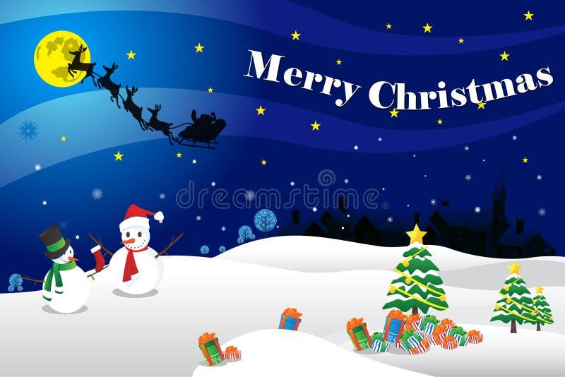 Illustrazione della carta di Buon Natale illustrazione vettoriale