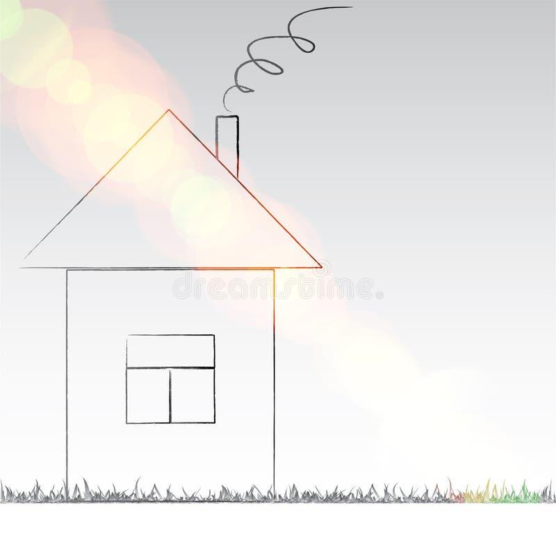 Illustrazione della casa illustrazione di stock immagine for Programma di disegno della casa libera