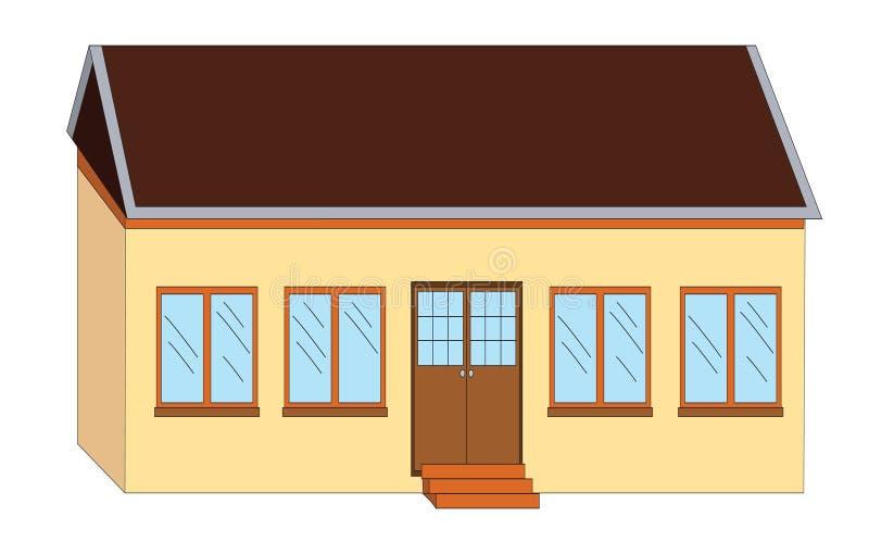 Download Illustrazione Della Casa Del Banco Illustrazione di Stock - Illustrazione di arte, finestre: 7302420