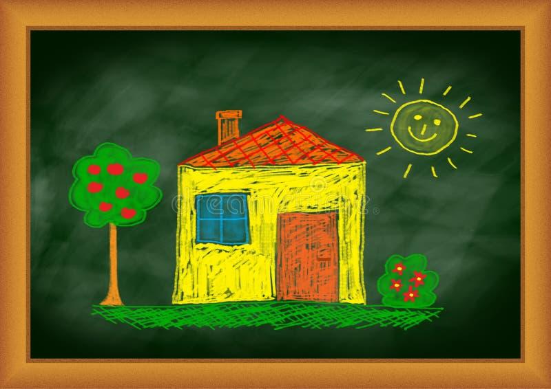 Illustrazione della casa gialla royalty illustrazione gratis