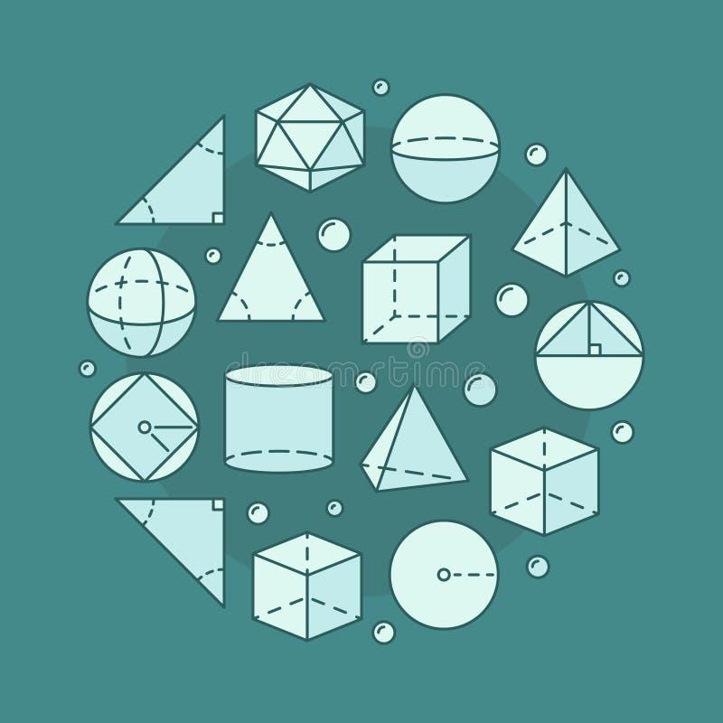 Illustrazione della circolare di trigonometria illustrazione vettoriale