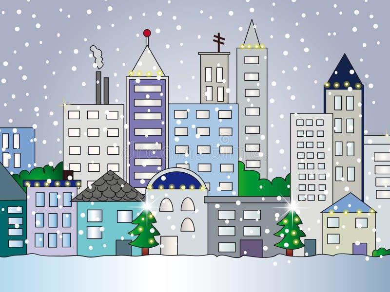 Illustrazione della città illustrazione vettoriale