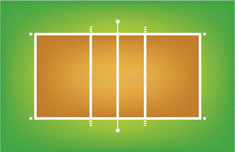 Illustrazione della corte o del campo di pallavolo illustrazione di stock