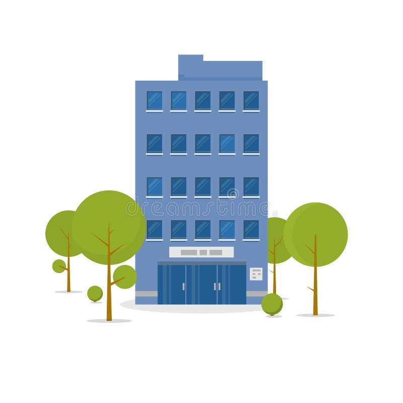 Illustrazione della costruzione di affari royalty illustrazione gratis