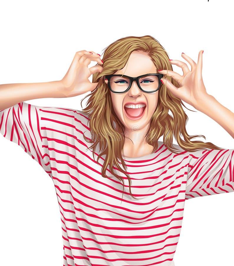 Illustrazione della donna illustrazione di stock