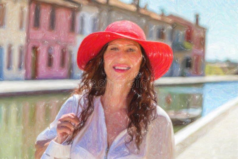 Illustrazione della donna bella fotografia stock