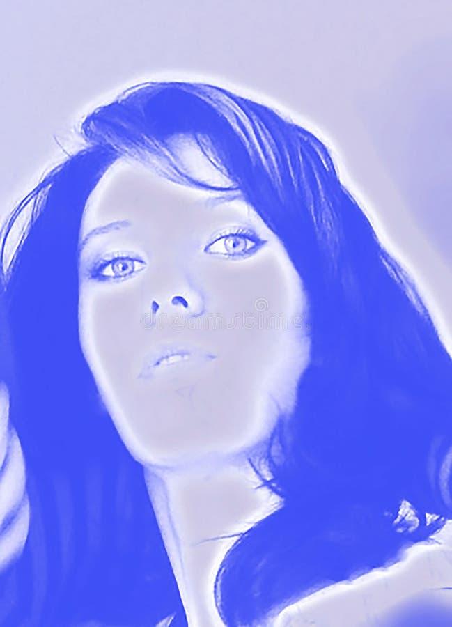 Illustrazione della donna che guarda diritto fotografie stock