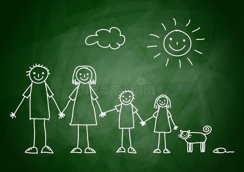 Illustrazione della famiglia royalty illustrazione gratis