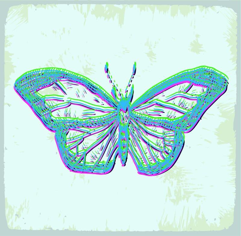 Illustrazione della farfalla del fumetto, icona di vettore royalty illustrazione gratis
