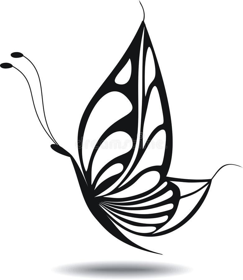 Illustrazione della farfalla silhouette illustrazione di stock