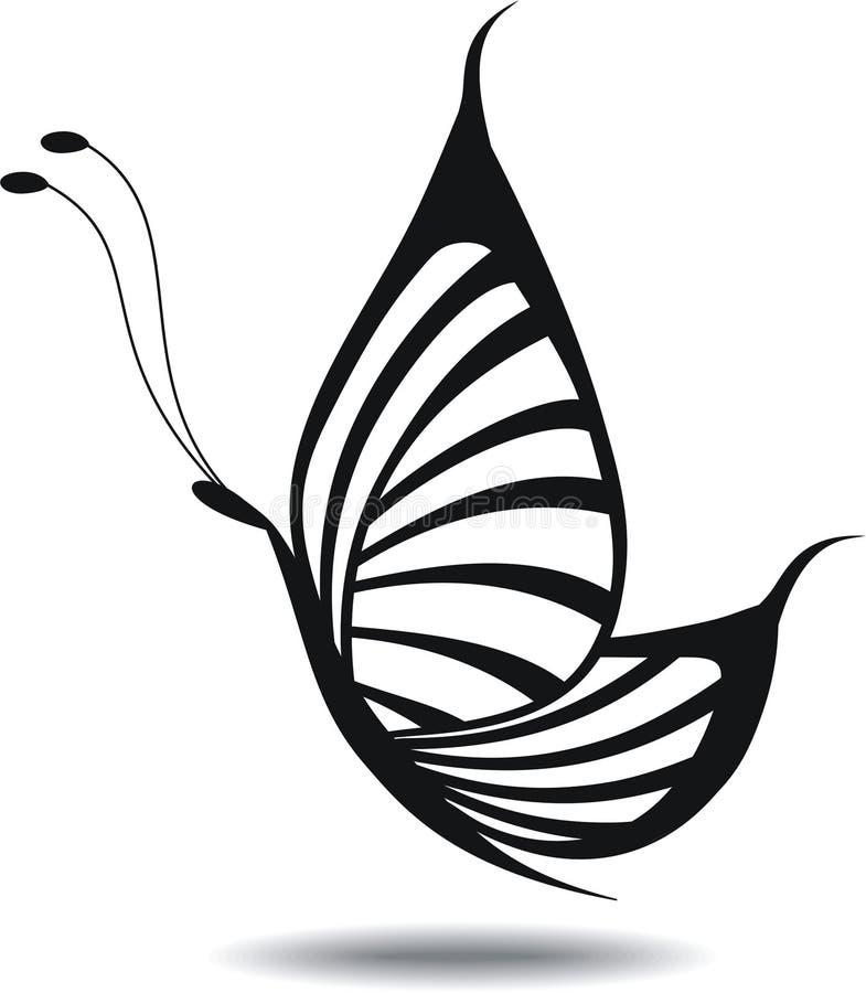 Illustrazione della farfalla silhouette royalty illustrazione gratis