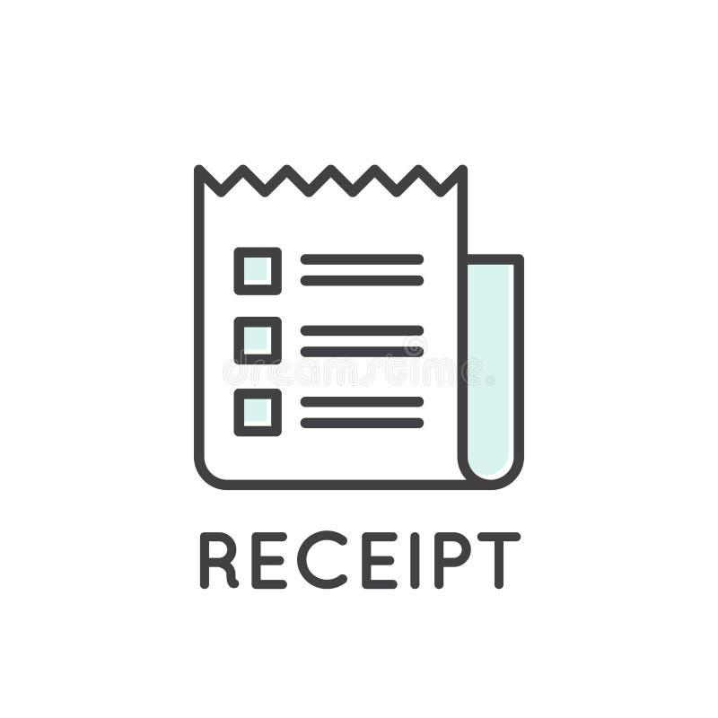 Illustrazione della fattura della carta della ricevuta royalty illustrazione gratis